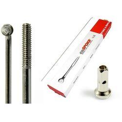 Szprychy CNSPOKE STD14 2.0-2.0-2.0 stal nierdzewna 196mm srebrne + nyple 144szt.