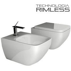 Muszla wc MODENA RIMLESS +bidet +deska