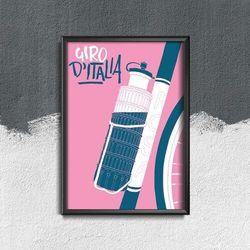 Plakat w stylu vintage Plakat w stylu vintage Plakat Giro D Italia Tour Of Italy