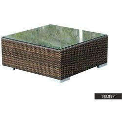 SELSEY Stolik ogrodowy Essara 70x70 cm ciemny brąz