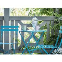 Zestawy ogrodowe, Meble ogrodowe niebieskie - balkonowe - stół z 2 krzesłami - FIORI