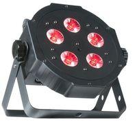 Zestawy i sprzęt DJ, American DJ Mega TRIPAR Profile PLUS- reflektor LED RGB+UV czarny płaski 5 x 4W do dekoracji światłem
