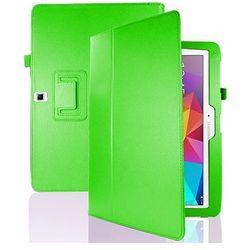 4w1 Etui stojak Samsung Galaxy Tab 4 10.1 + folia + ściereczka + rysik - Zielony