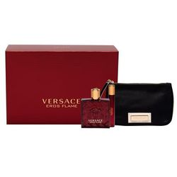 Versace Eros Flame zestaw edp 100 ml + Edp 10 ml + Kosmetyczka dla mężczyzn