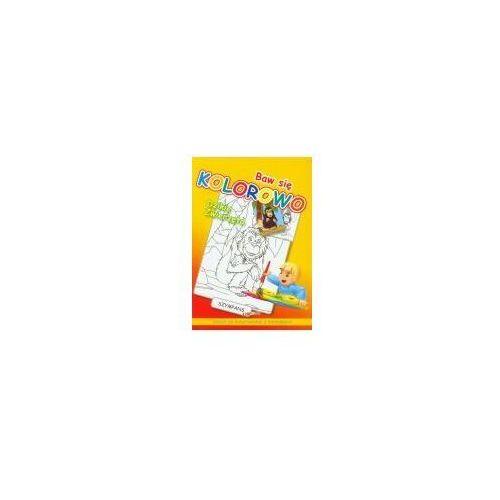 Książki dla dzieci, Baw się kolorowo Dzikie zwierzęta Szympans. Zeszyt do kolorowania z naklejkami (opr. miękka)