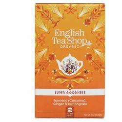Herbatka ziołowa z imbirem,kurkumą i trawą cytrynową 20x1,75g BIO 35 g English Tea Shop