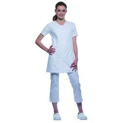 Tunika medyczna bez rękawów, rozmiar 50, biała | KARLOWSKY, Sara