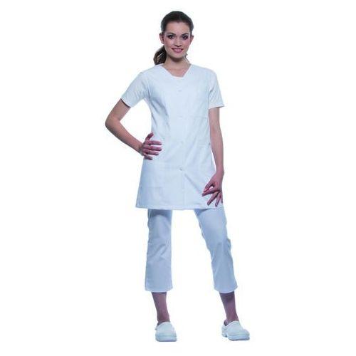 Ubrania medyczne, Tunika medyczna bez rękawów, rozmiar 50, biała   KARLOWSKY, Sara