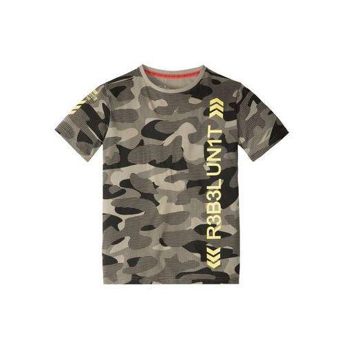 T-shirty dla dzieci, T-shirt moro bonprix khaki moro z nadrukiem