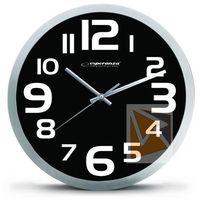 Zegary, Esperanza Zegar ścienny Zurich czarny (EHC013K) Darmowy odbiór w 21 miastach!