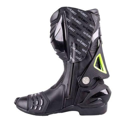 Buty motocyklowe, Skórzane buty motocyklowe W-TEC Hernot W-3015, Czarny-fluo żółty, 41
