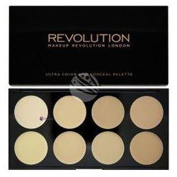 Makeup Revolution Ultra Cover & Conceal Palette (W) paleta 8 kremowych korektorów Light 10g