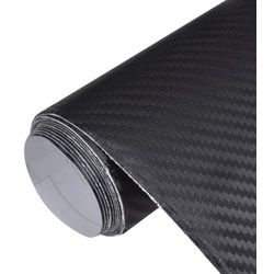 vidaXL Naklejka samochodowa winyl/carbon 3D czarna 152 x 500 cm Darmowa wysyłka i zwroty