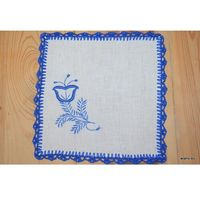 Serwetki, Haft kujawski - serwetka ręcznie haftowana, 20x20 cm (kz-7)