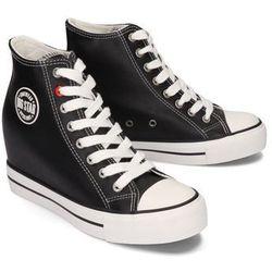 BIG STAR EE274615 czarny, trampki, sneakersy damskie - Czarny