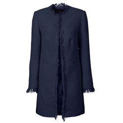 Płaszcz boucle bonprix ciemnoniebieski