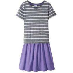 Sukienka shirtowa bonprix szary melanż - lila
