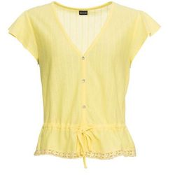 Shirt ze sznurowaniem bonprix limonka