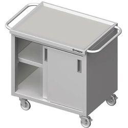 Wózek z szafką drzwi suwane STALGAST 1000x600x850mm 982046100
