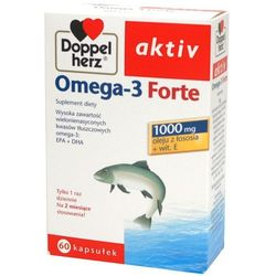 Doppel herz aktiv omega-3 forte x 60 kaps