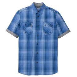 Koszula w kratę ze specjalnym krojem brzucha bonprix niebieski w kratę