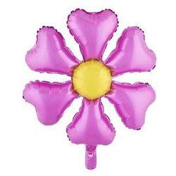 Balon foliowy Kwiatek różowy - 55 cm - 1 szt.