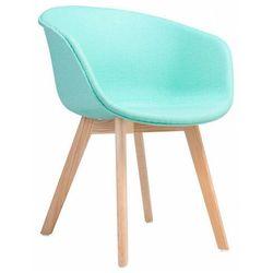 Miętowy fotel tapicerowany - Meris