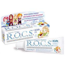 ROCS KIDS Owocowy rożek (Fruity Cone) - Pasta dla dzieci w wieku 3-7 lat BEZ FLUORU 35ml