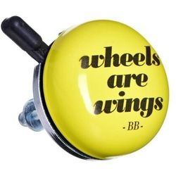 Dzwonek rowerowy Bike Belle WHEELS ARE WINGS - BEL1620- natychmiastowa wysyłka, ponad 4000 punktów odbioru!