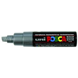 Marker z farbą plakatową Uni POSCA, PC-8K srebrny