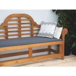 Ławka ogrodowa drewniana 180 cm poducha grafitowa JAVA Marlboro