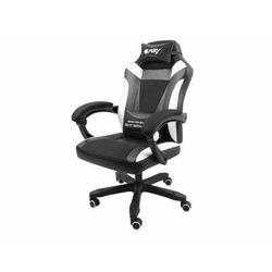 Fotel dla gracza Fury Avenger M+ czarno-biały