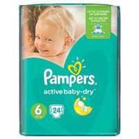 Pieluchy jednorazowe, PAMPERS Active Baby pieluchy 6 Extra Large 24szt pieluszki