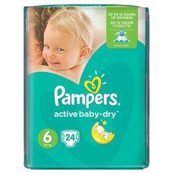 PAMPERS Active Baby pieluchy 6 Extra Large 24szt pieluszki