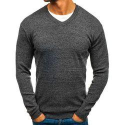 Sweter męski w serek antracytowy Denley H1816