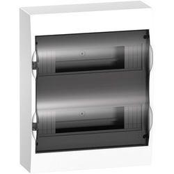 Schneider Rozdzielnia natynkowa IP40 drzwi transparentne Easy9 2x12 modułów EZ9E212S2S
