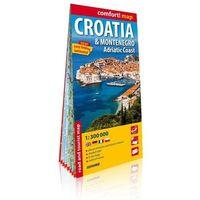 Pozostałe książki, Comfort! map Chorwacja i Czarnogóra 1:300 000 - opracowanie zbiorowe - książka