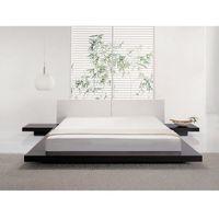 Łóżka, Łóżko ciemnobrązowe - 180x200 cm - łóżko drewniane - styl japoński - ZEN