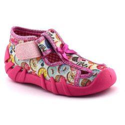 Kapcie dziecięce Befado 190P091 - Różowy   Kolorowy