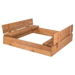 Piaskownica zamykana drewniana 140x140cm impregnowana