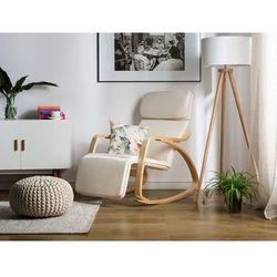 Fotel ecru - bujany - na biegunach - wypoczynkowy - bujak - WESTON