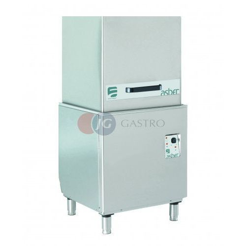 Zmywarki gastronomiczne, Zmywarka kapturowa z dozownikiem płynu myjącego 500x500 Asber Easy-H500 HP DD