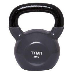 Hantla Kettlebell Winyl Żeliwny Tytan Sport odważnik 28 kg