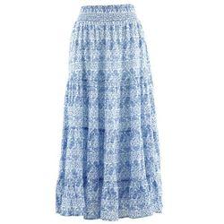 Długa spódnica, kolekcja Maite Kelly bonprix biało-błękitny