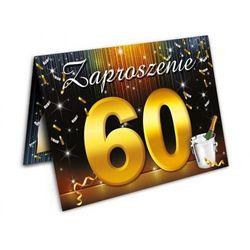 Zaproszenie urodzinowe - 60 - sześćdziesiątka - 1 szt.