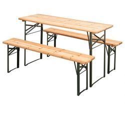 Ogrodowy zestaw piwny, 2x ławka, 1x stół