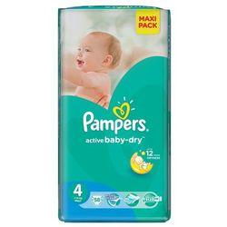 PAMPERS Active Baby-Dry Pieluchy 4 Maxi 58szt pieluszki