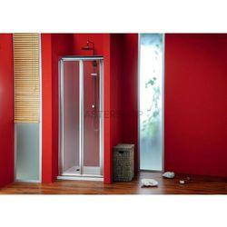 SIGMA drzwi prysznicowe do wnęki składane 90 szkło matowe BRICK SG3849