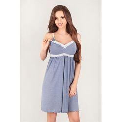 Koszulka nocna Koszula Ciążowa Model 3038 Blue - Lupo Line