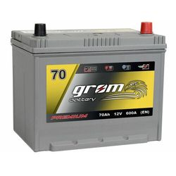 Akumulator GROM Premium 70Ah 600A EN Japan Prawy Plus DTR